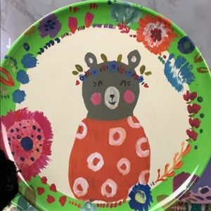 Cost Plus World Market Kitchen - Cost plus world market forest animals plates set 4